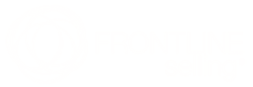 FRONTLINE Selling logo in white